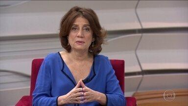 Miriam Leitão antecipa índice da inflação de janeiro - Segundo Miriam Leitão, a inflação de janeiro de 2016 ficou em 1,27%. No mesmo mês deste ano, a previsão é de que seja de 0,4%. Isso significa que a inflação, em 12 meses, cai de 10,71% para 5,3%.