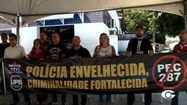 Policiais civis e federais paralisam atividades em Alagoas - Mobilização é contra PEC da reforma da previdência.