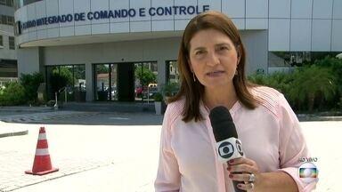 Protestos são registrados em 27 batalhões da Polícia Militar em todo o estado - O secretário de Segurança Pública, Roberto Sá, acompanha as manifestações do Centro Integrado de Comando e Controle.