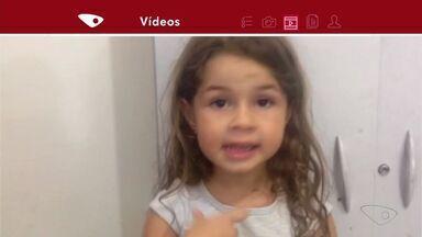 VC no ESTV: crianças enviam vídeos pedindo paz no ES - Pais enviaram as gravações para o aplicativo da TV.