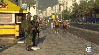 Segurança do Rio tem reforço de 9 mil militares das Forças Armadas - A previsão é que as tropas federais fiquem até o dia 22 de fevereiro. Fuzileiros navais devem atuar na zona sul da cidade.