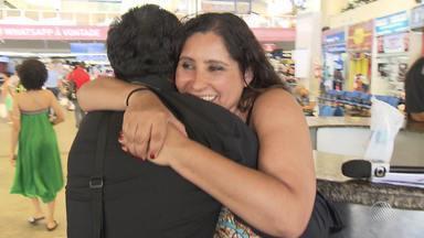"""Desaparecidos: sobrinha encontra tio que nunca conheceu, em Salvador - Conheça a história que teve a ajuda do quadro """"Desaparecidos""""."""