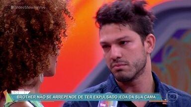 Luiz Felipe não se arrepende de ter expulsado Ieda de sua cama - Alagoano foi eliminado no primeiro paredão triplo do BBB 17