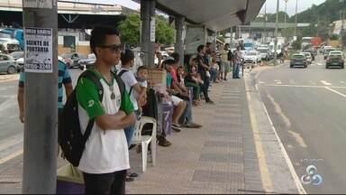 Paralisação de ônibus afeta 20 mil usuários em Manaus, diz Sinetram - Funcionários de empresa de ônibus pararam atividades nesta manhã.