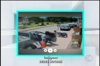 Imagens mostram assalto a agência bancária em São Francisco de Paula - Criminosos fugiram levando reféns. Até o momento, ninguém foi preso.