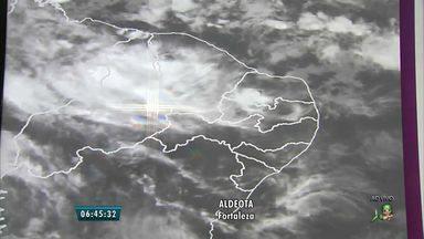 Previsão da Funceme indica chuvas no fim de semana no Ceará - Expectativa é que chuvas se estendam da zona litorânea para o restante do estado.