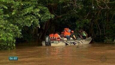 A cheia do rio Cuiabá provocou alagamento de comunidades ribeirinhas. - A cheia do Rio Cuiabá, provocou alagamentos de comunidades ribeirinhas em Santo Antônio de Leverger.