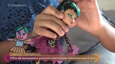 Filha de Alexsandra assumiu identidade feminina aos 6 anos - Crianças transgênero: Isabela nasceu menino e se descobriu menina