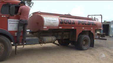 Número de caminhões pipa que abastecem a zona rural de Conquista é reduzido - Mais de 17 mil pessoas são atendidas pelo programa Operação Pipa no município.