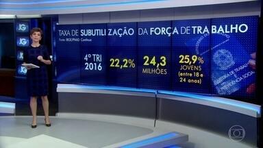 IBGE mostra que crise do desemprego deu um salto no último trimestre de 2016 - No retrato mais cruel da recessão, mais de 24 milhões de brasileiros estavam desempregados ou trabalhavam menos horas do que gostariam no fim de 2016.