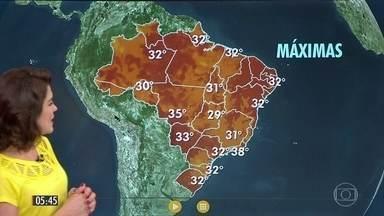 Confira a previsão do tempo para a sexta-feira (24) - Veja como fica o tempo em todo país.