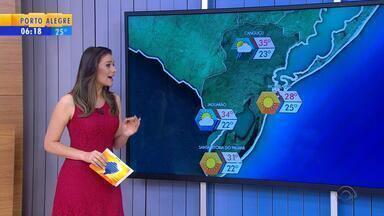 Tempo: sexta-feira (24) deve ter sol e pancadas de chuva no RS - Em Porto Alegre, o tempo abre no final de semana.