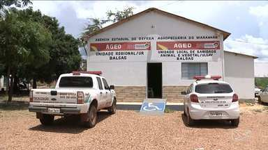 Prédio da Aged em Balsas vira alvo de bandidos - Segundo a polícia, quando os fiscais chegaram para trabalhar a agência no Maranhão estava revirada.