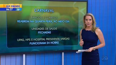 Confira o que abre e fecha em Porto Alegre durante o carnaval - Acompanhe os horários.