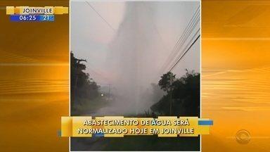 Abastecimento de água de Joinville deve ser normalizado ainda nesta sexta-feira (24) - Abastecimento de água de Joinville deve ser normalizado ainda nesta sexta-feira (24)