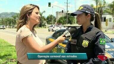 PRF aumenta fiscalização no feriado de carnaval em rodovias do ES - Operação especial começa nesta sexta-feira (24) e termina na quarta-feira (1).