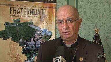 Igreja católica lança campanha da fraternidade em Ribeirão Preto, SP - Para 2017 o tema escolhido foi o meio ambiente. Igreja vai receber propostas de moradores em todo o Brasil para preservar a natureza.