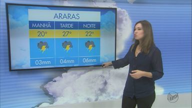 Confira a previsão do tempo em São Carlos e região - Confira a previsão do tempo em São Carlos e região