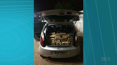 PM apreende 125 quilos de maconha - A apreensão foi na madrugada de hoje, em Santa Terezinha de Itaipu.