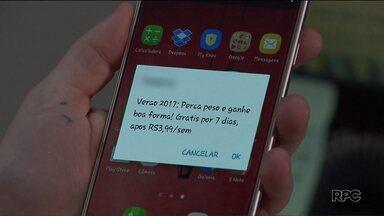 """Procon pretende alterar botões de contratação de serviços por mensagens SMS - Os botões """"cancelar"""" e """"ok"""", de acordo com o Procon, confundem os clientes."""