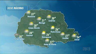 Tem previsão de pancadas de chuva na tarde deste sábado - As temperaturas permanecem altas.