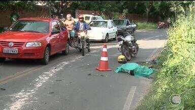 Motociclistas morrem após colisão frontal na zona rural de Teresina - Motociclistas morrem após colisão frontal na zona rural de Teresina