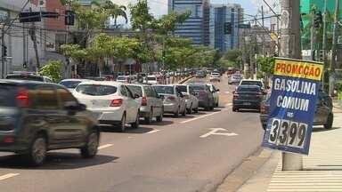 Manaus registra queda no preço do combustível - Motoristas impulsionaram diminuição do valor.