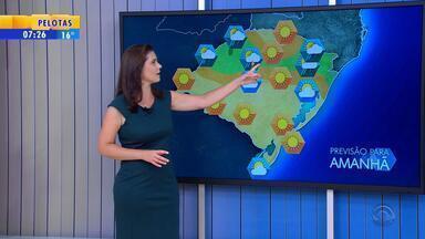 Tempo: quarta-feira (8) terá predomínio do sol no RS - Há possibilidade de chuva para o Norte.