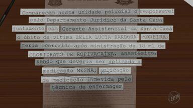 Técnica de enfermagem responsável por aplicar remédio em mulher que morreu depõe em Franca - Zélia Lucia Barbosa Moreira estava na Santa Casa de Franca e morreu horas após ter recebido medicação errada.