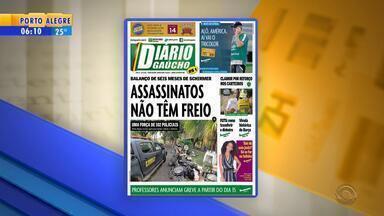 Confira os destaques dos jornais gaúchos nesta quinta-feira (9) - Veja as manchetes.
