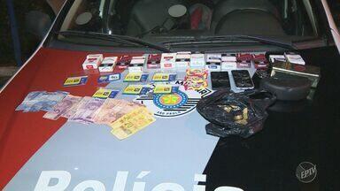 Polícia Militar prende suspeitos de participar de quadrilha de roubos em Hortolândia - A prisão aconteceu após um assalto a uma padaria em Campinas. Três homens foram presos, um deles já com passagem por roubo de veículo.