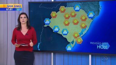 Tempo: terça (14) deve ser marcada por tempo seco e variação de temperatura no RS - Mínima ficou abaixo dos 8°C em São José dos Ausentes na madrugada.
