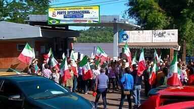 Agricultores protestam contra reforma da previdência em Porto Mauá - Cerca de 450 trabalhadores rurais manifestaram na região Noroeste do estado.
