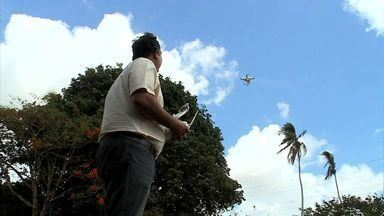 Novo equipamento tem sido introduzido em fazendas de AL em busca de otimizar o trabalho - Drone é utilizado para verificar a eficiência da irrigação e estado da plantação.