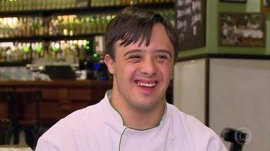 Dia Internacional da Síndrome de Down: conheça Pedro Brandão - 'Se você tiver um filho com síndrome de down, não precisa ter medo', avisa o chef de cozinha