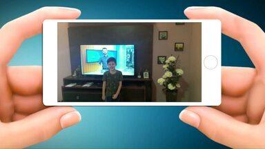 Telespectadores mandam vídeos assistindo ao Paraná TV - Você também pode ajudar a chamar o intervalo