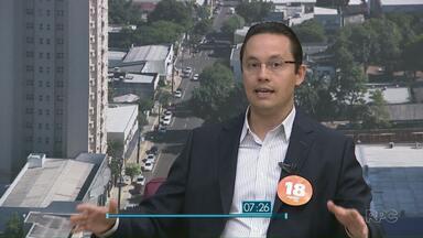 Paraná TV entrevista o candidato a prefeito Phelipe Mansur - Ele é o segundo entrevistado da série de entrevistas apresentada esta semana