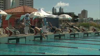Nova geração da natação paraibana participa de prova na Vila Olímpica - Festival Mirim e Petiz abriu a temporada 2017 dos esportes aquáticos na Paraíba