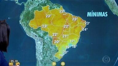 Confira a previsão do tempo para a quarta-feira (22) - Veja como fica o tempo em todo país.