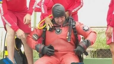 Bombeiros são treinados com novos equipamentos de mergulho em Guajará-Mirim - Especialização em mergulho de segurança pública está sendo realizado em todo o Estado.