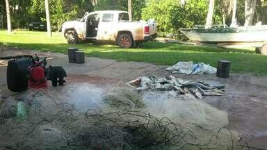 IAP apreende 126 kg de peixes capturados em rios de forma ilegal - Também foram apreendidas tarrafas e redes.