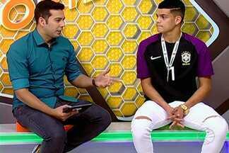 Goleiro de Uberlândia é campeão Sul-Americano sub-17 com seleção - Gabriel é goleiro do Cruzeiro e foi o menos vazado da competição disputada no Chile