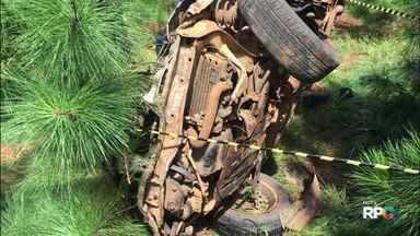 Mulher de 34 anos morre em acidente na PR-170 - O acidente foi perto da ponte do Rio Pinhão.