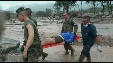 Chuvas deixam pelo menos 150 mortos no sul da Colômbia - Lama e pedra que desceram das encostas destruíram centenas de casas. Hospitais estão lotados.