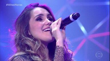 Dulce María canta Rompecorazones com banda brasileira - Cantora levanta a plateia