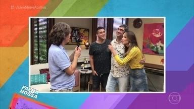 Confira o 'Falha Nossa' da galera do 'É de Casa' - Ana Furtado zoa os amigos e envia o vídeo para o quadro mais engraçado do 'Vídeo Show'
