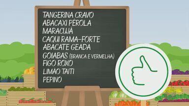 'Barato da Feira' mostra hortaliças e verduras que estão com preços em baixa - Confira os preços do abacaxi pérola, abacate geada, goiabas branca e vermelha e maracujá.
