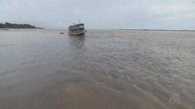 """No AM, sete cidades entram em alerta e 13 em atenção por conta da cheia dos rios - Defesa Civil emite """"Alerta"""" para o Baixo Amazonas e """"Atenção"""" para Médio Solimões."""