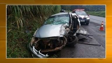 Motorista morre após colisão na BR-282 em Chapecó - Motorista morre após colisão na BR-282 em Chapecó