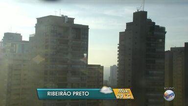 Confira a previsão do tempo para esta segunda-feira (10) em Ribeirão Preto, SP - Temperatura máxima deve ser de 29ºC, segundo meteorologistas.